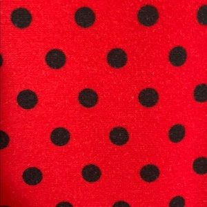 NY Collection Dresses - Red Polka Dot Dress